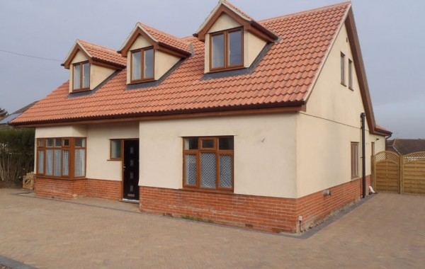 Rear extension and replacement roof structure