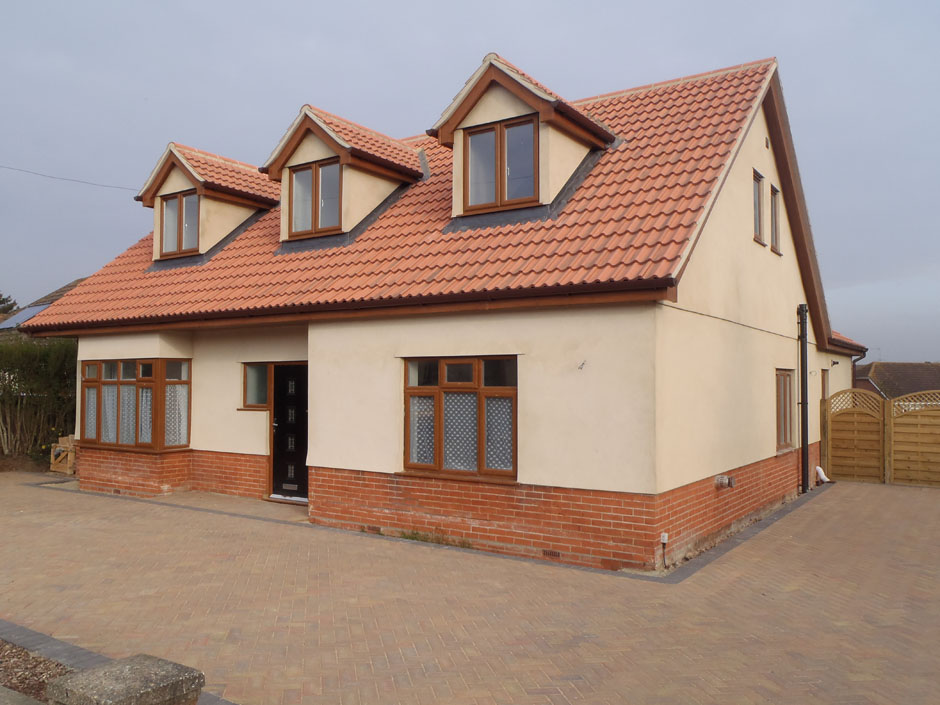 Roofing Design Service : Rear extension and replacement roof structure