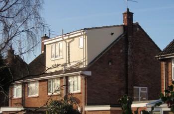 Loft conversion and catslide roof dormer