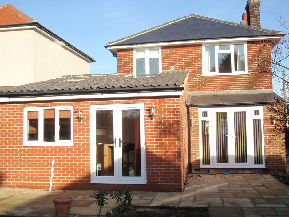 Single Storey Kitchen Extension With Vaulted Roof Architectural Building Design Services