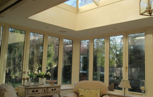Orangery addition on rear of property