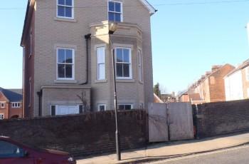 Detached four storey house