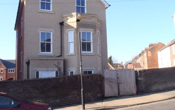 Detached four storey house