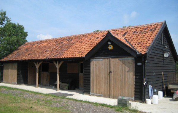 Detached stables and haystore