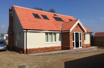 New detached chalet style bungalow