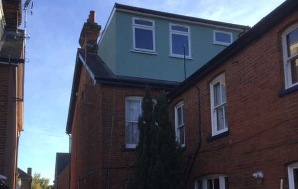 Loft conversion and flat roof dormer